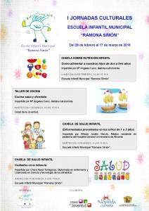 "Ayuntamiento de Novelda 2016-02-29-I-JORNADAS-CULTURALES-ESCUELA-INFANTIL-212x300 . Charla ""Enfermedades prevalentes en los niños de 1 a 3 años"", en la Escuela Infantil Municipal ""Ramona Simón""."