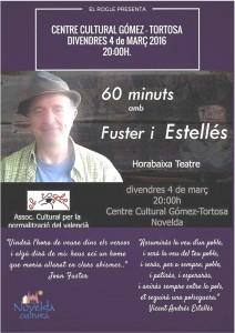 """Ayuntamiento de Novelda 2016-03-04-REC-POESIA-ESTELLES-I-FUSTER-212x300 Recital de poesía. """"60 minutos con Estellés y Fuster"""", en el Centro Cultural Gómez Tortosa."""