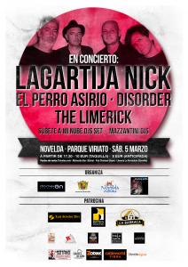 Ayuntamiento de Novelda 2016-03-05-LAGARTIJA-NICK-212x300 Conciertode Lagartija Nick + El perro Asirio, The Limerick, Disorder, en el Parque Auditorio (C/ Viriato).
