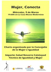 """Ayuntamiento de Novelda 2016-03-09-CHARLA-MUJER-CONECTA-212x300 Charla. """"Mujer Conecta"""", en la Casa Museo Modernista."""