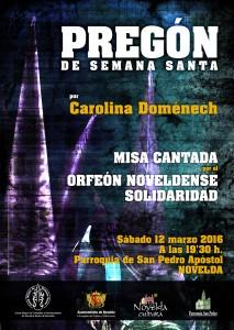 Ayuntamiento de Novelda 2016-03-12-PREGON-SEMANA-SANTA-2016-213x300 . Pregón de Semana Santa y Misa Cantada, en la Iglesia P. de San Pedro.