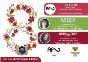 """Ayuntamiento de Novelda 2016-03-4-11-18-cartel-afn-mujer-300x212 Inauguración de la exposición fotográfica: """"Luchadoras"""", en el Bar Parada."""