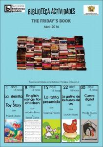 """Ayuntamiento de Novelda 2016-04-01-FRIDAYS-BOOK-211x300 Cuentacuentos.  Friday's Book. """"La Ratita presumida"""", en la Biblioteca Infantil-Juvenil."""