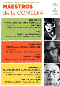 Ayuntamiento de Novelda 2016-04-06-CICLO-MAESTROS-DE-LA-COMEDIA-212x300 Ciclo Maestros de la Comedia Cinematográfica. Conferencia: Woody Allen, plagios y homenajes, en el Centro Cultural Gómez-Tortosa.