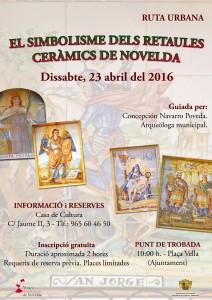 Ayuntamiento de Novelda 2016-04-23-RUTA-URBANA-RETABLOS-212x300 Ruta urbana: El simbolisme dels retaules ceràmics de Novelda, en la Plaça Vella.