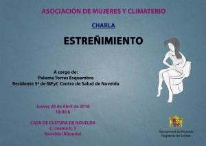 """Ayuntamiento de Novelda 2016-04-28-CRARLA-ESTREÑIMIENTO-300x212 Conferencia: """"Estreñimiento en personas mayores"""", Casa de Cultura."""