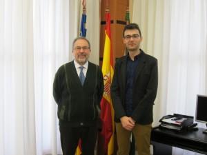 Ayuntamiento de Novelda IMG_6123-300x225 El alcalde recibe oficialmente a Brauli Montoya, nuevo miembro de la Acadèmia Valenciana de la Llengua
