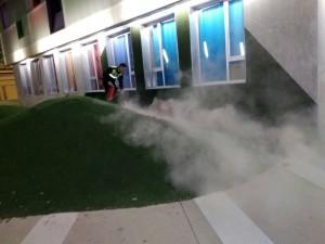 Ayuntamiento de Novelda Fuego-Casal-300x225 Pequeño incendio en el patio del Casal de la Joventut