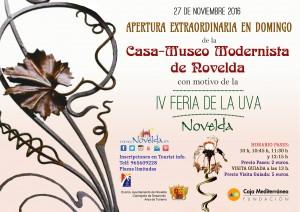 Ayuntamiento de Novelda apertura-casa-museo-Novelda-300x212 La Casa-Museo Modernista podrá ser visitada durante la Feria de la Uva