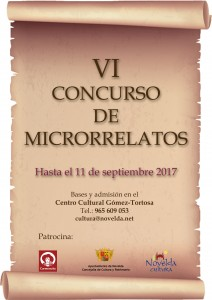 Ayuntamiento de Novelda CARTEL-cast-212x300 Finalistas del VI Concurso de Microrrelatos