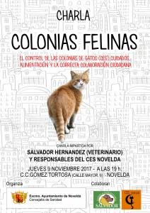 Ayuntamiento de Novelda CES-charla-gatos-212x300 Diputación subvenciona el control municipal de colonias urbanas de gatos