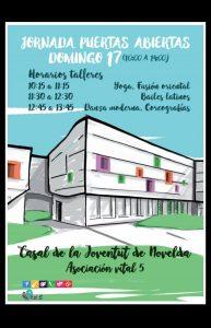 Ayuntamiento de Novelda Cartel-Jornadas-Abiertas-Casal-193x300 Jornada de Puertas Abiertas en el Casal de la Joventut