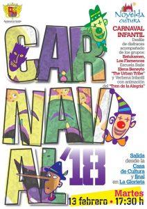 Ayuntamiento de Novelda Cartel-Carnaval-212x300 Cultura prepara una fiesta infantil para el Martes de Carnaval