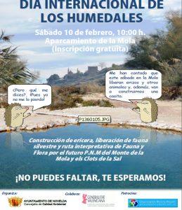 Ayuntamiento de Novelda Cartel-humedales-ok-259x300 Calidad Ambiental celebra el Día de los Humedales en el Paraje de La Mola