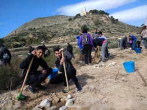 Ayuntamiento de Novelda Reforestación-2-Ayto-300x225 La Concejalía de Calidad Ambiental finaliza la campaña de reforestación con plantas autóctonas en el cauce del rio Vinalopó