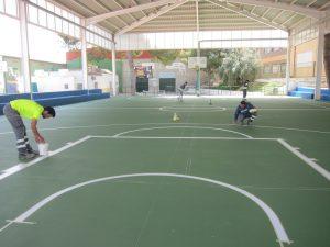 Ayuntamiento de Novelda basket_ayto-300x225 El Ayuntamiento adecua la pista exterior de baloncesto del Campo de Deportes de La Magdalena