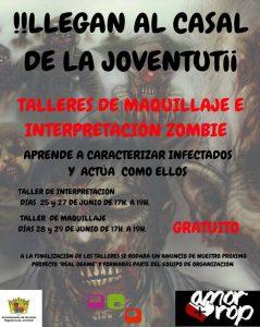 Ayuntamiento de Novelda cartel-Zombies-ok-239x300 Juventud organiza  talleres de maquillaje e interpretación zombie