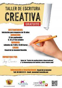 Ayuntamiento de Novelda Curso-escritura-creativa-212x300 Juventud oferta un taller de Escritura Creativa