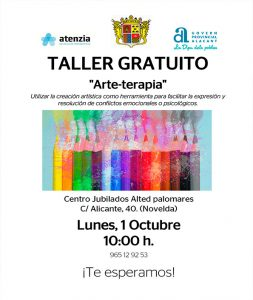 Ayuntamiento de Novelda cartel-arte-web-253x300 Arte-terapia para celebrar el Día del Mayor