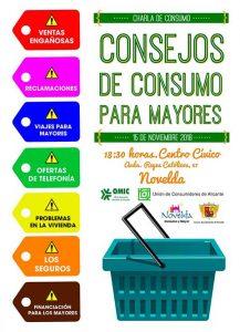 Ayuntamiento de Novelda Cartel-conferencia-consumo-ok-217x300 El Centro Cívico acoge la charla Consejos de Consumo para Personas Mayores