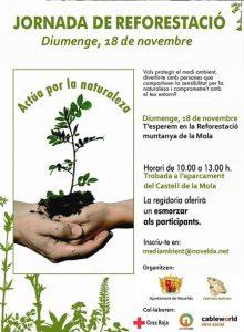 Ayuntamiento de Novelda Cartel-reforestacion-220x300 Nueva jornada de reforestación en La Mola