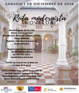 Ayuntamiento de Novelda cartel-ruta-modernista-255x300 Turismo ofrece una nueva Ruta Modernista guiada