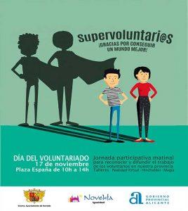 Ayuntamiento de Novelda cartel-voluntario-ok-268x300 La Plaça Vella acogerá la Feria del Voluntariado