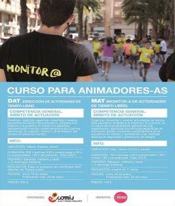 Ayuntamiento de Novelda cartel-monitor--256x300 Juventud ofrece dos cursos de  Monitor de Ocio y Tiempo Libre