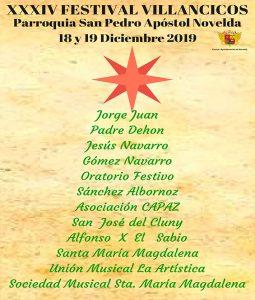 Ayuntamiento de Novelda cartel-villancico--255x300 La Iglesia de San Pedro acogerá la 34ª edición del Festival Escolar de Villancicos