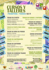 Ayuntamiento de Novelda cartel-juventud-210x300 Juventud ofrece los Cursos y Talleres de Primavera/Verano