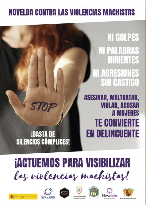 Ayuntamiento de Novelda Cartel-ok Igualdad desarrolla una nueva campaña de concienciación contra la violencia machista