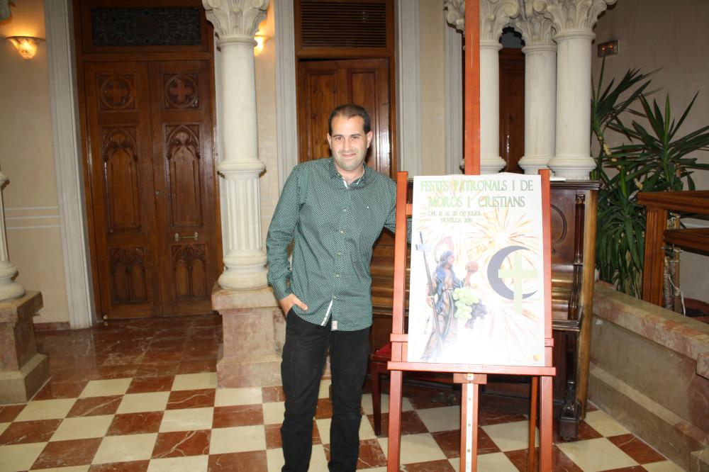 Ayuntamiento de Novelda cartel-fiestas-027-ayto-2 Xavi Sellés, autor del cartel anunciador de las Fiestas Patronales y de Moros y Cristianos 2019