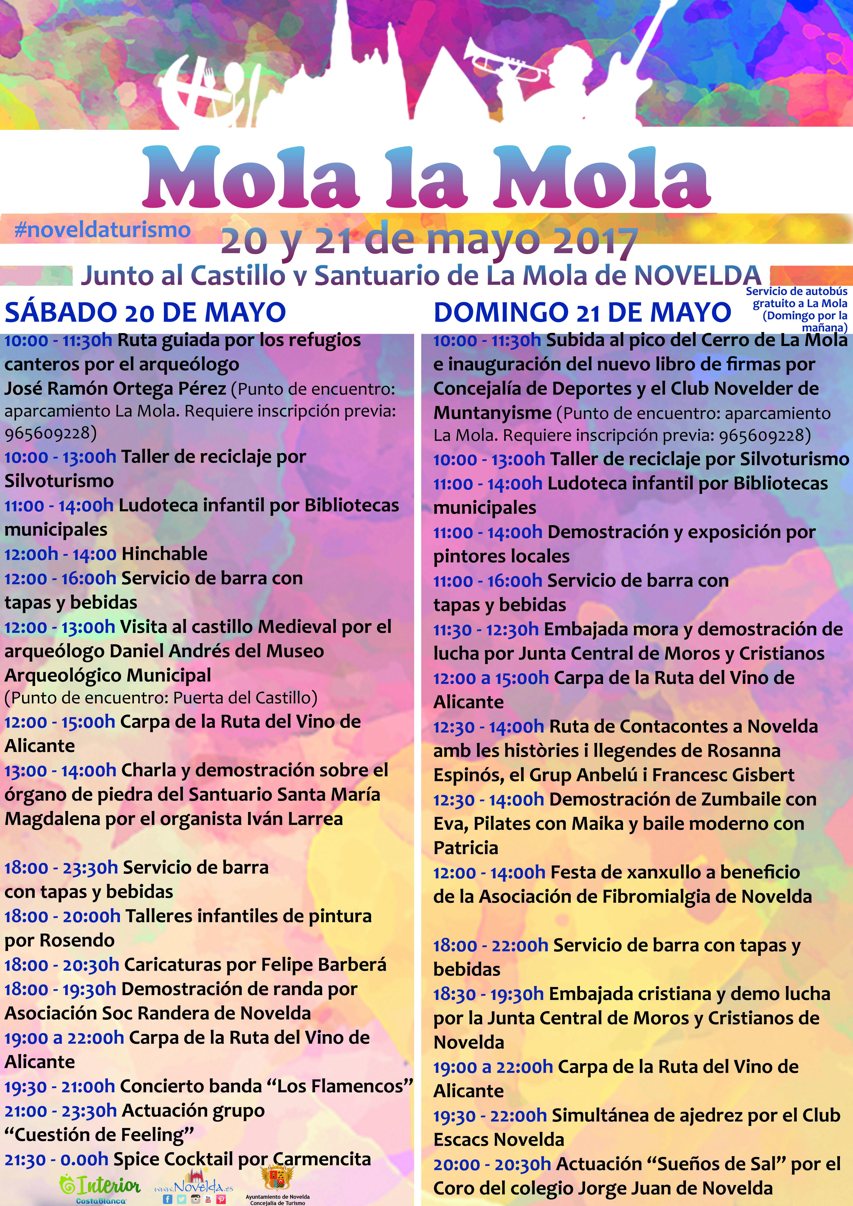 CARTEL programación MOLA LA MOLA NOVELDA 2017
