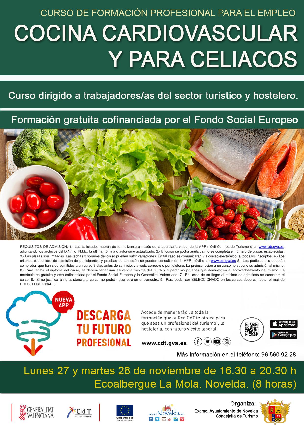 Curso cocina cardiovascular y celiacos web novelda turismo - Curso de cocina para solteros ...