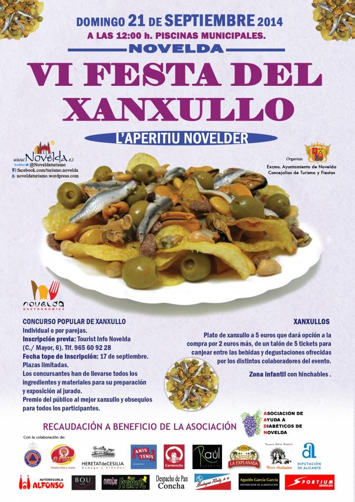 Cartel Festa xanxullo 2014 Novelda, Alicante, Costa Blanca, Comunidad Valenciana, Spain