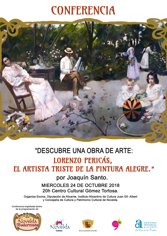 cartel conferencia Pericás Novelda modernista 2018