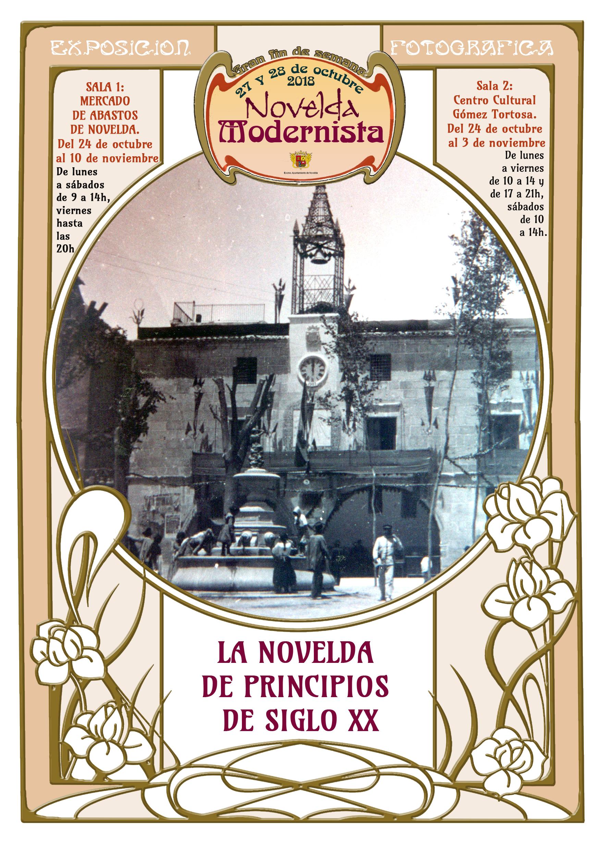 cartel expo fotos Novelda modernista 2018