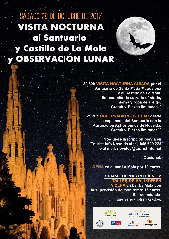 observación lunar Halloween La Mola Turismo 2017