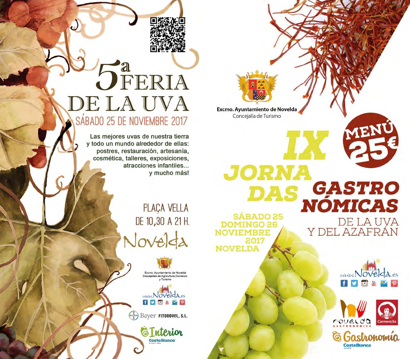 portadas Jornadas gastronómicas Novelda 2017